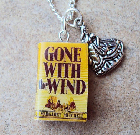 Gone With the Wind Book Necklace with Charm