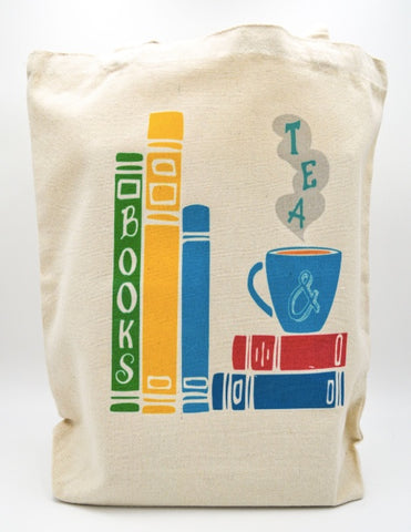 Book and Tea tote bag