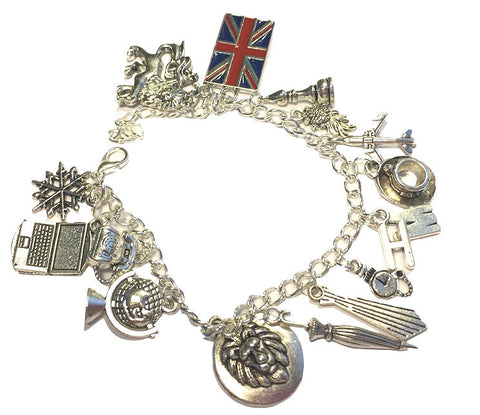 British London Themed Charm Bracelet