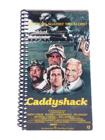 Caddyshack  - VHS Movie notebook
