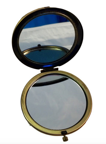 Green cat's eye- Compact Mirror