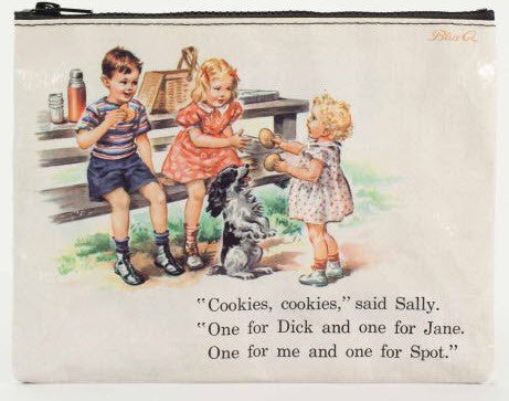 Dick and Jane Cookies Zipper Pouch