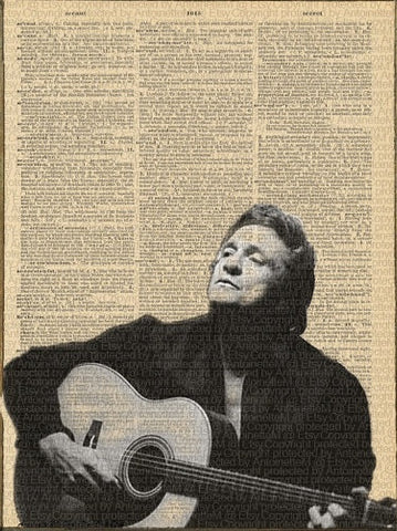 Johnny Cash Dictionary Art Print