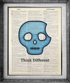 Think Different Skull Dictionary Art Print