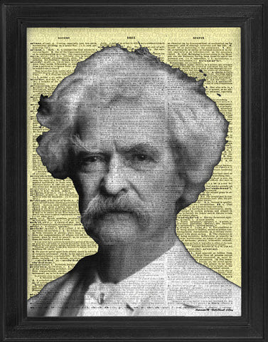 Mark Twain Dictionary Art Print