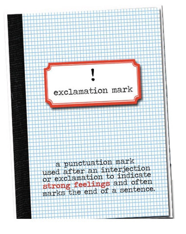 Exclamation Mark! Grammar themed Birthday card