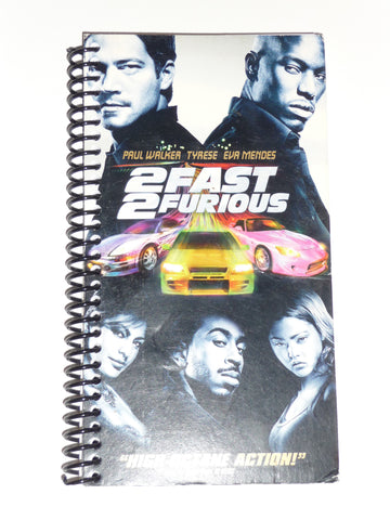 Fast and Furious - VHS Movie Notebook