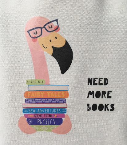 Flamingo book lover Tote Bag Book bag