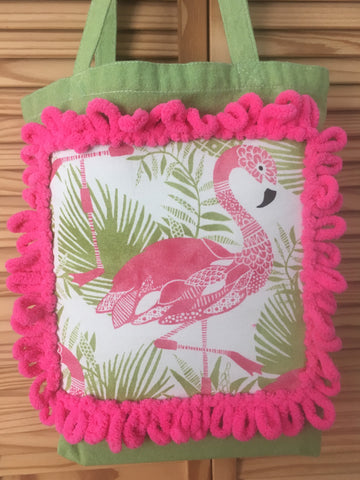 Fun Flamingo Tote Bag Book bag