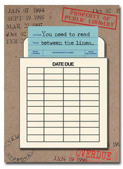Birthday Greetings Read Between the Lines Library Card