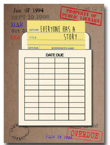 Library Card Everyone Has a Story notebook