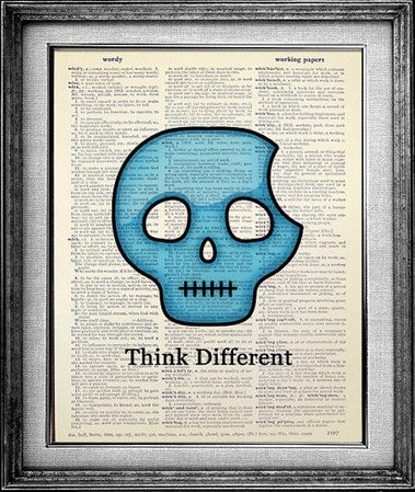Think Different Skull Dictionary Print