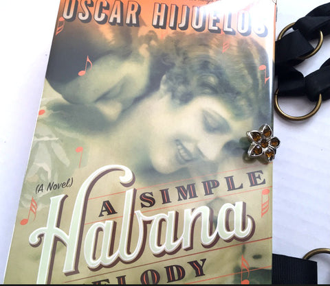 A Simple Habana Melody Book Purse - handmade