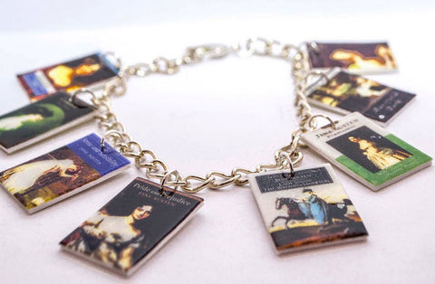 Jane Austen Book Covers Charm Bracelet