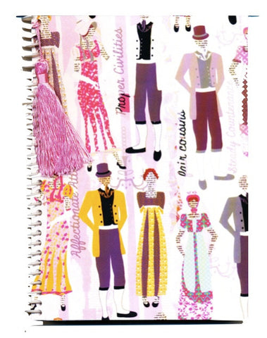 Jane Austen style notebook journal