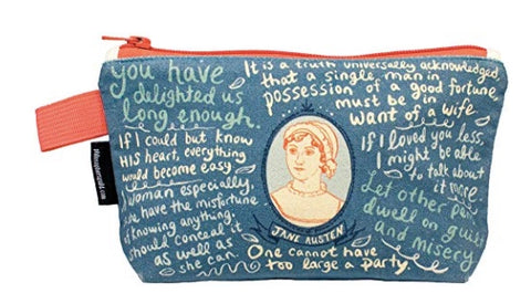 "Jane Austen 9"" Zipper Pouch"