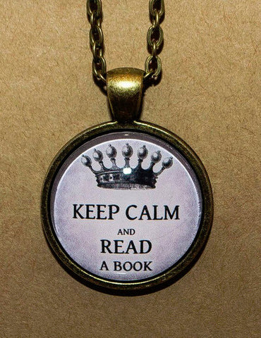Keep Calm and Read a Book - Pendant Necklace