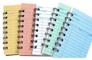 Library Cards Notebooks notepads - 2 pack