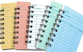 Library Cards Notebook - single