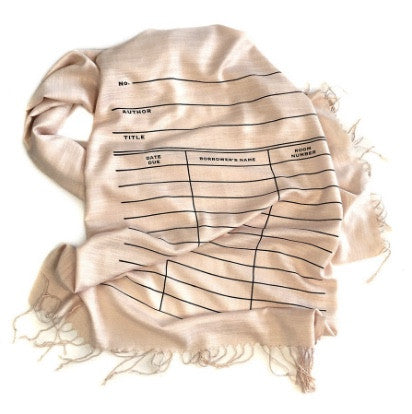 Library Card Due Date Book Scarf