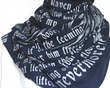 The Raven Edgar Allan Poe Literary Book Scarf
