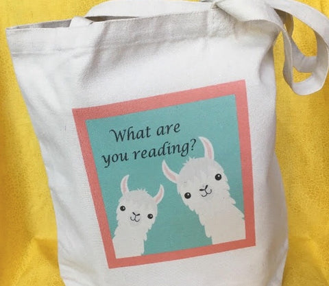 Llama love What are you Reading? Tote Bag Book bag