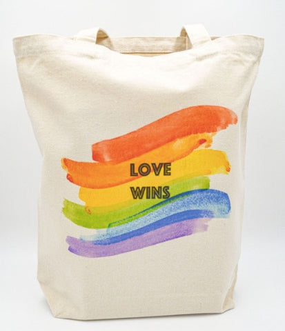 Love Wins LGBTQ tote bag