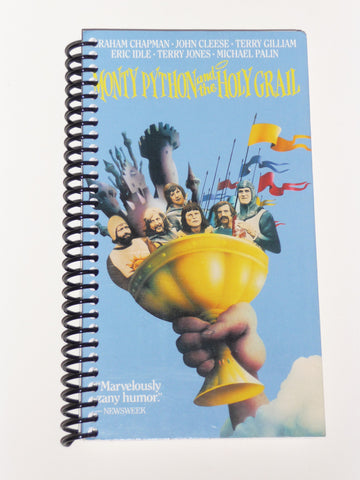 Monty Python and the Holy Grail - VHS Movie notebook