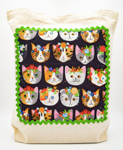 Multicolor Cats tote bag