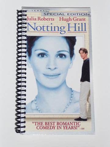 Notting Hill  - VHS Movie notebook
