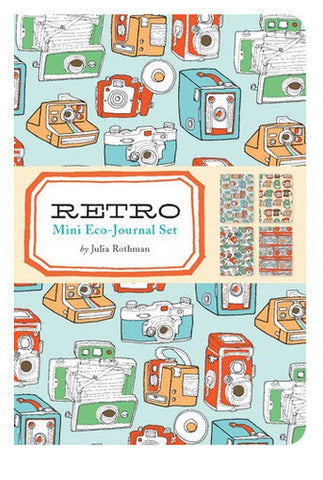 Retro Mini eco-journal set