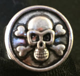 Skull & Crossbones in Sunglasses - Snap Button