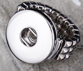 Snap Button Ring - stretch to fit - with snap button