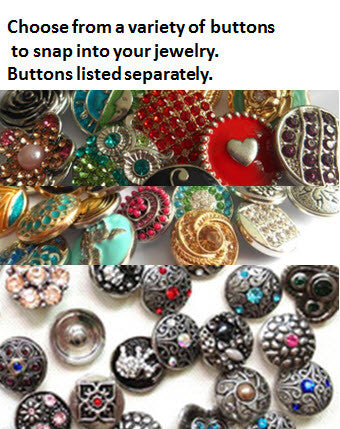 Snap Button Bracelet - 3 strand with clasp