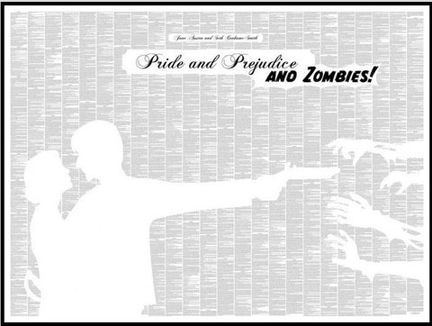 Pride and Prejudice and Zombies! Book Text Poster