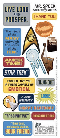 Spock Star Trek Greeting Card