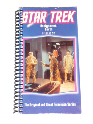 Star Trek (Assinment: Earth  Episode 55) - VHS Movie Notebook