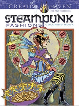 Steampunk Coloring Book - Adult coloring book