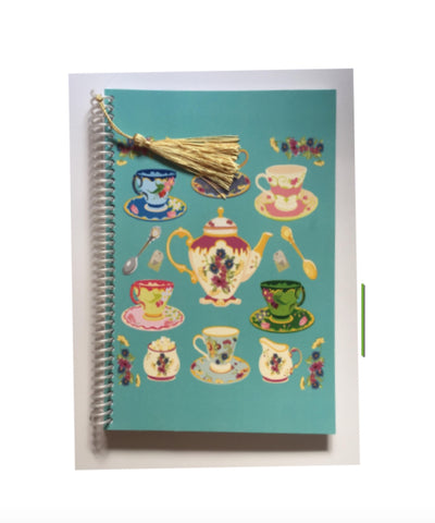 Tea Lovers teacups notebook journal