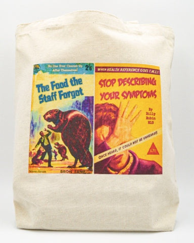 Librarian Pulp Fiction The Food the Staff Forgot Stop Describing Your Symptoms Tote bag Book bag