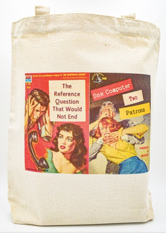 The Reference Question that Would Not End Two Computers One Patron Tote bag book bag