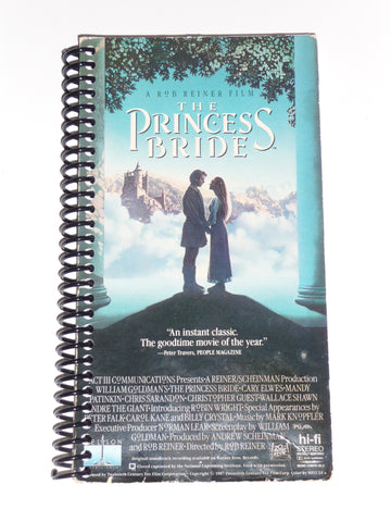 The Princess Bride  - VHS Movie notebook
