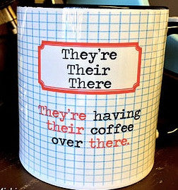 Grammar Mug -There, their, they're