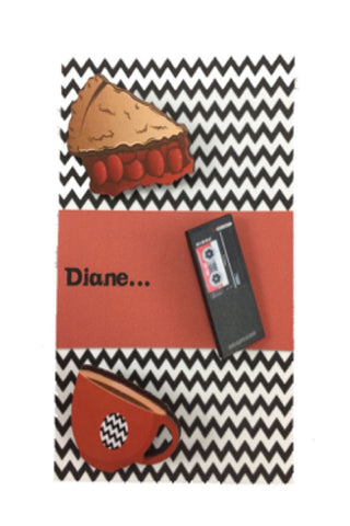 Twin Peaks inspired pins brooches - set of 3