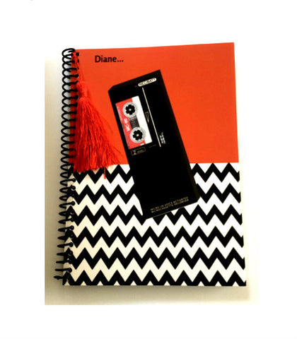 Twin Peaks tape recorder notebook journal