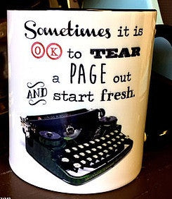 Typewriter mug - Fresh start