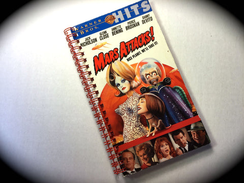 Mars Attacks! - VHS Movie notebook
