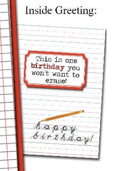 Vintage Delete Button Grammar themed Birthday Greeting Card