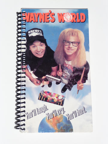 Wayne's World  - VHS Movie notebook