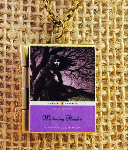 Wuthering Heights book cover locket necklace